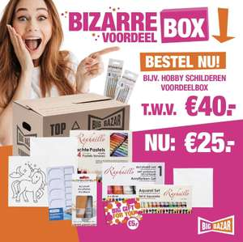 Big Bazar voordeelbox 13,38 ipv 25 euro!