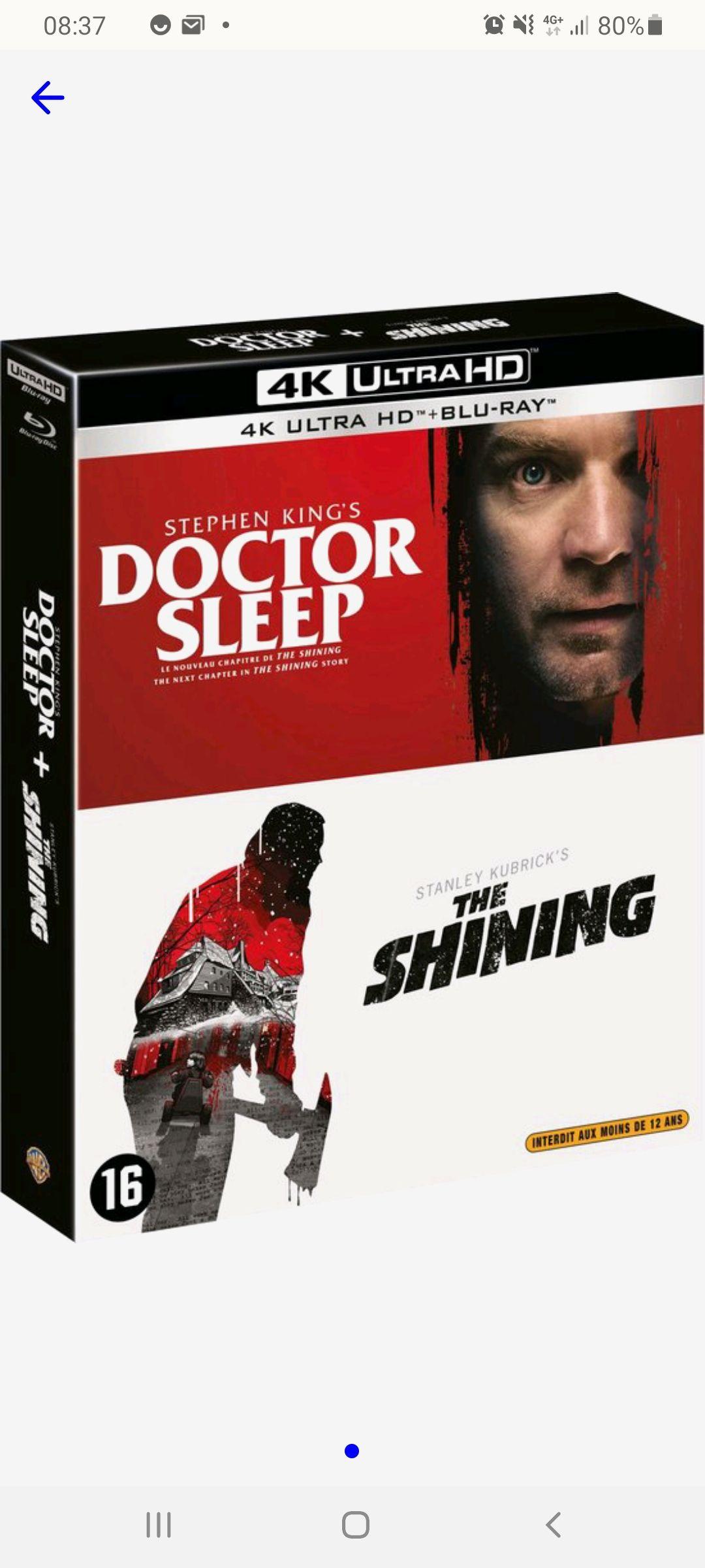 Doctor sleep + The Shining 4k Blu ray