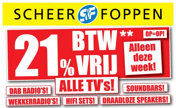 Scheer&Foppen - BTW-vrij op tv en audio!