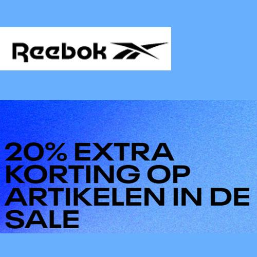 SALE tot -50% + 20% EXTRA met code @ Reebok