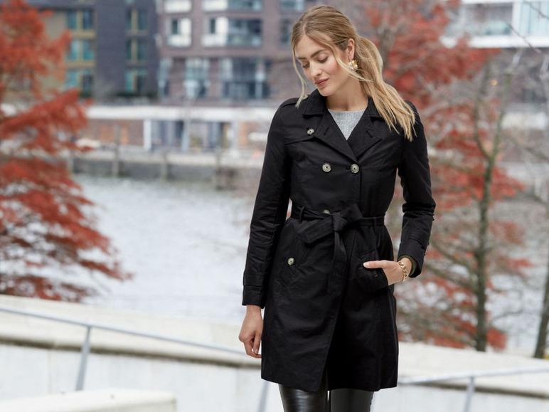 Esmara Trenchcoat zwart of beige voor €9,99 (was €59,99) @ Lidl-shop