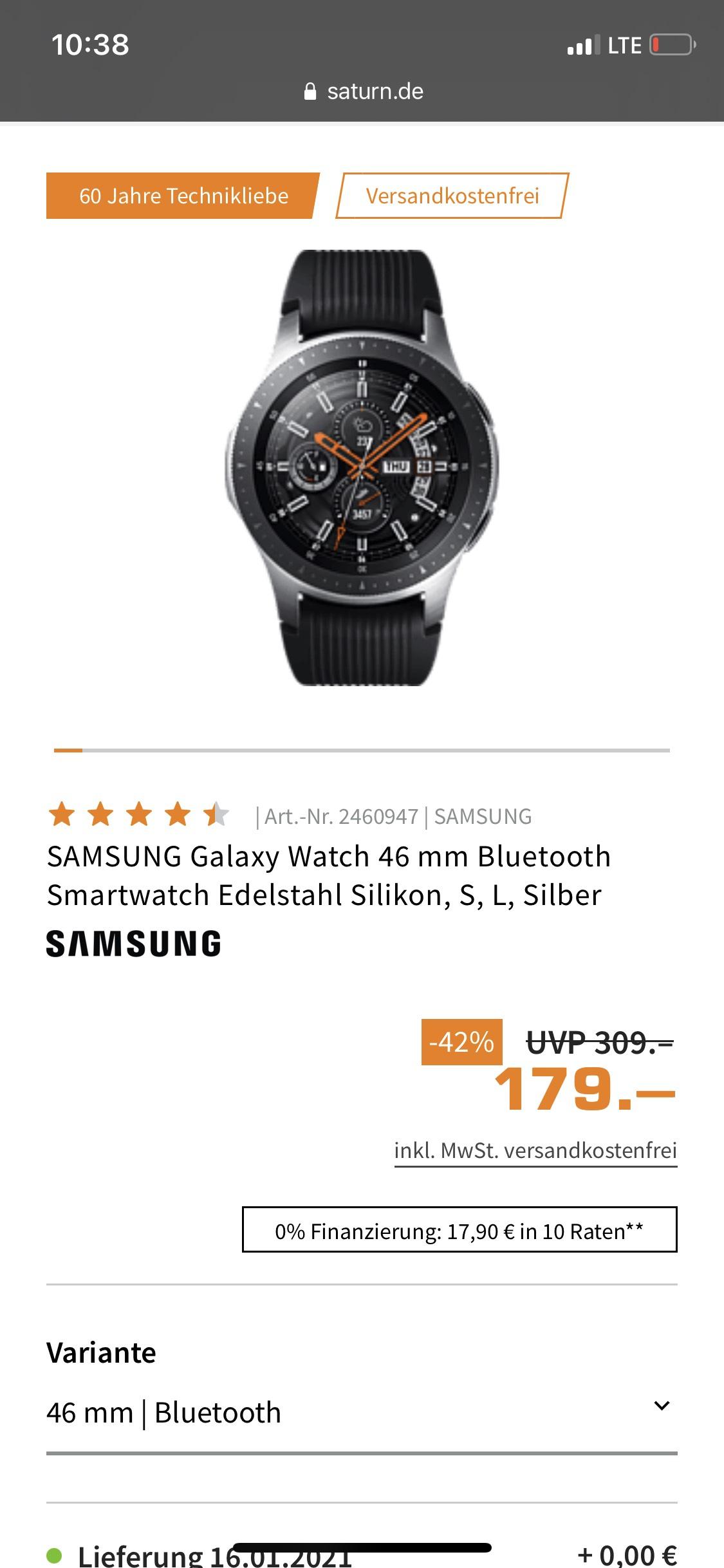 [Grensdeal] Samsung Galaxy Watch 46mm