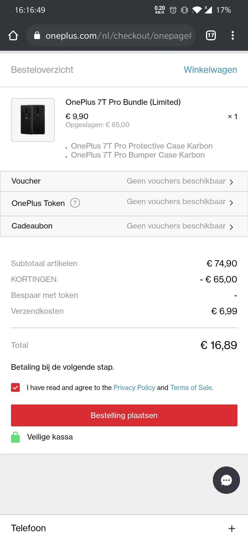 OnePlus 7t pro/ 7 pro hoesje (2 hoesjes voor €10)