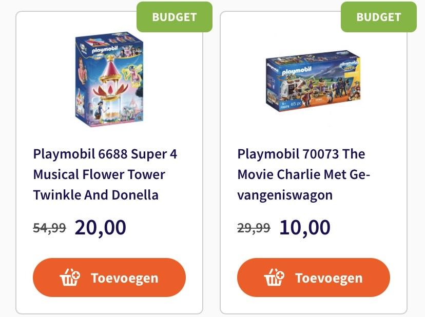 Hoge kortingen op veel speelgoed (o.a. Playmobil) @ Top1Toys