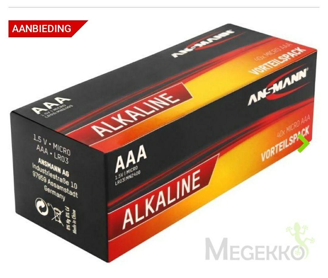2 x 40 Ansmann AAA Batterijen