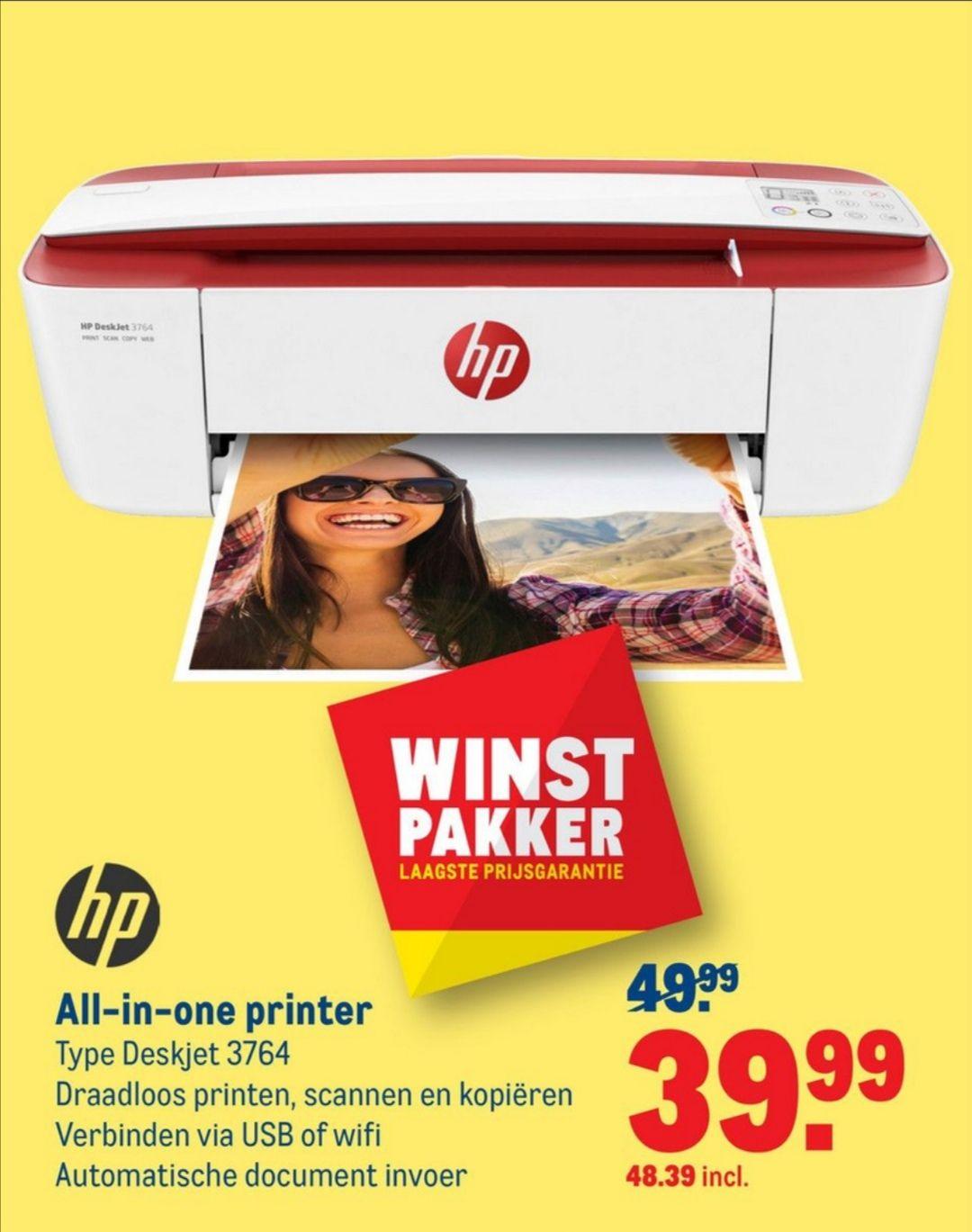 HP DeskJet 3764 Thermische inkjetprinter