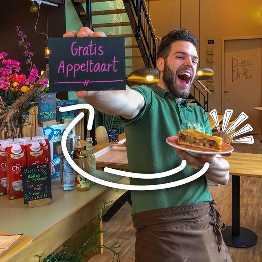 Gratis punt appeltaart bij je bestelling @ Bagels & Beans