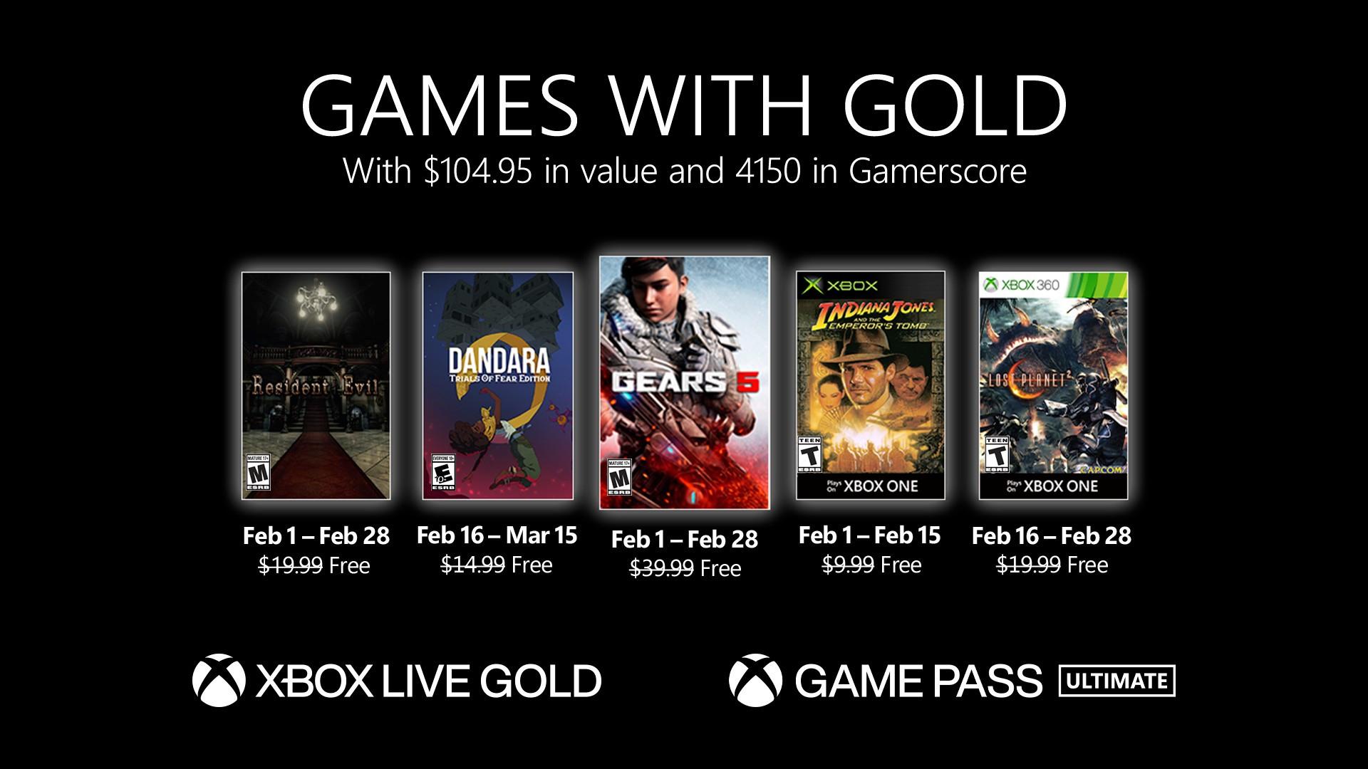 Games with Gold februari 2021 met gratis GEARS 5!