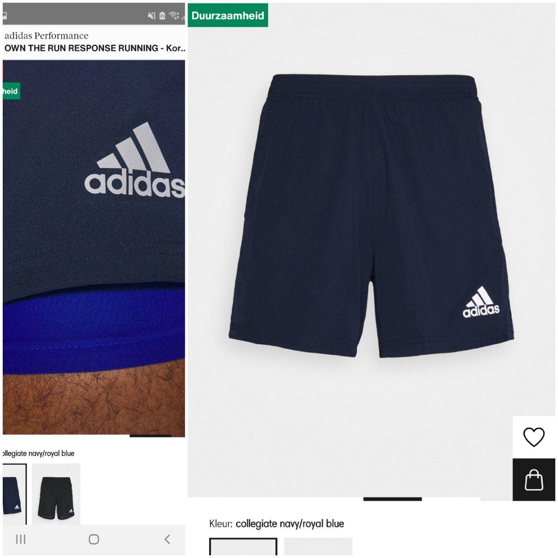 Adidas Performance sportbroek / hardloopbroek