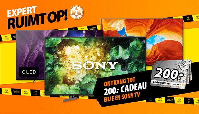Expert cadeaukaart (50 t/m 200 euro) bij geselecteerde Sony tv's