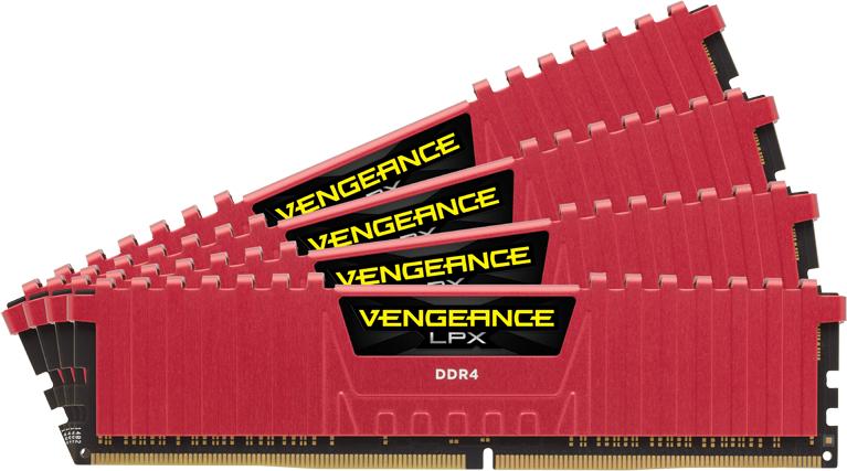 Corsair Vengeance LPX Red 32GB DDR4-2400 CL14 quad kit voor €116,77 @ Nextdeal