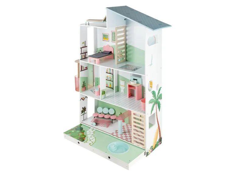 PLAYTIVE® Houten poppenhuis deluxe (geschikt voor barbie)