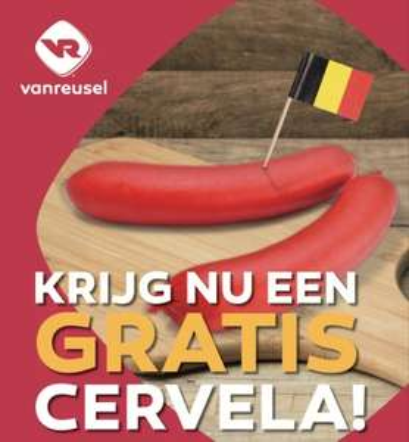 België: Gratis cervela via fritkotactie