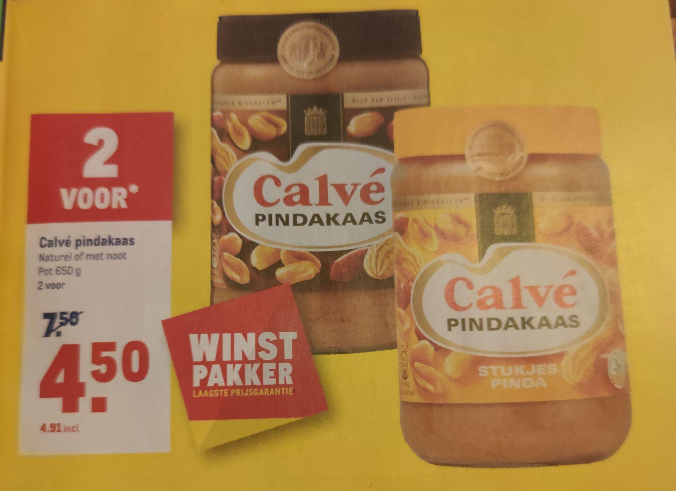 1.3 kg Calvé pindakaas voor 4.91 euro bij de Makro!
