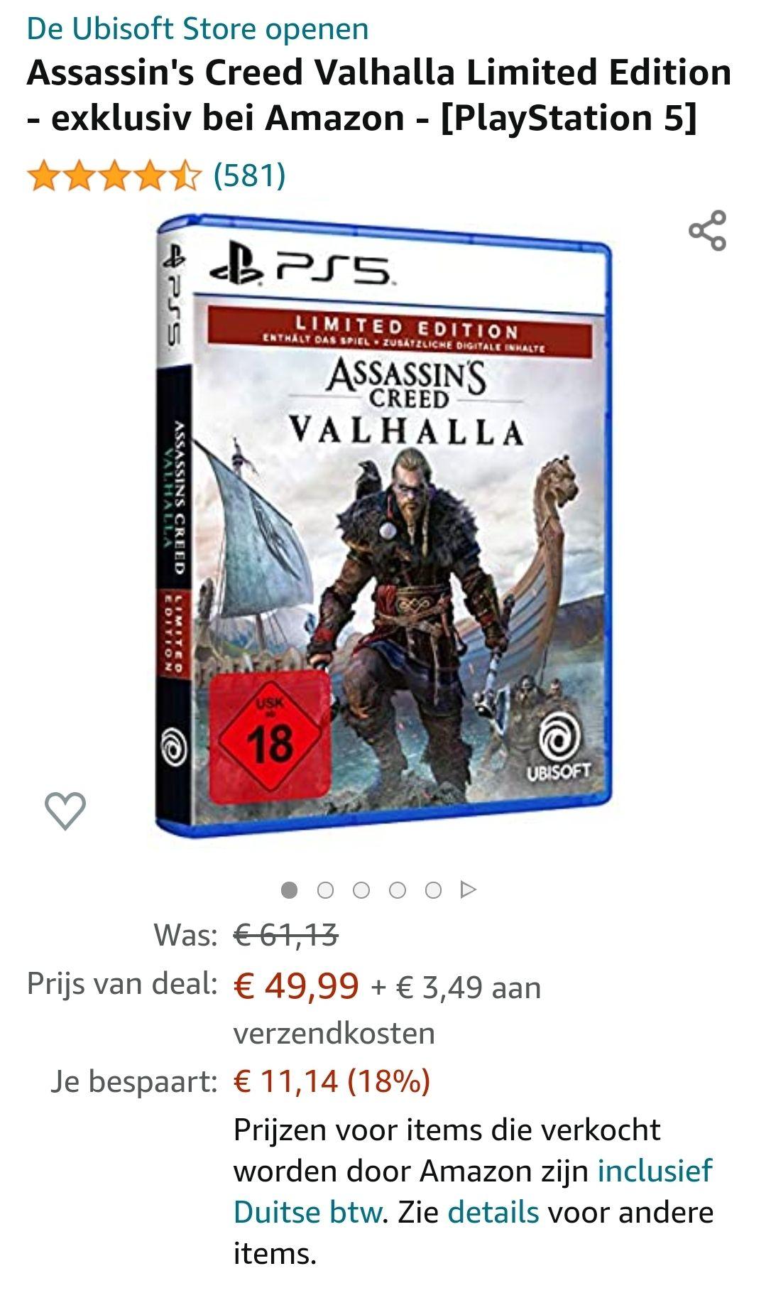 Assassin's Creed Valhalla Limited Edition - exclusief bij Amazon - [PlayStation 5]