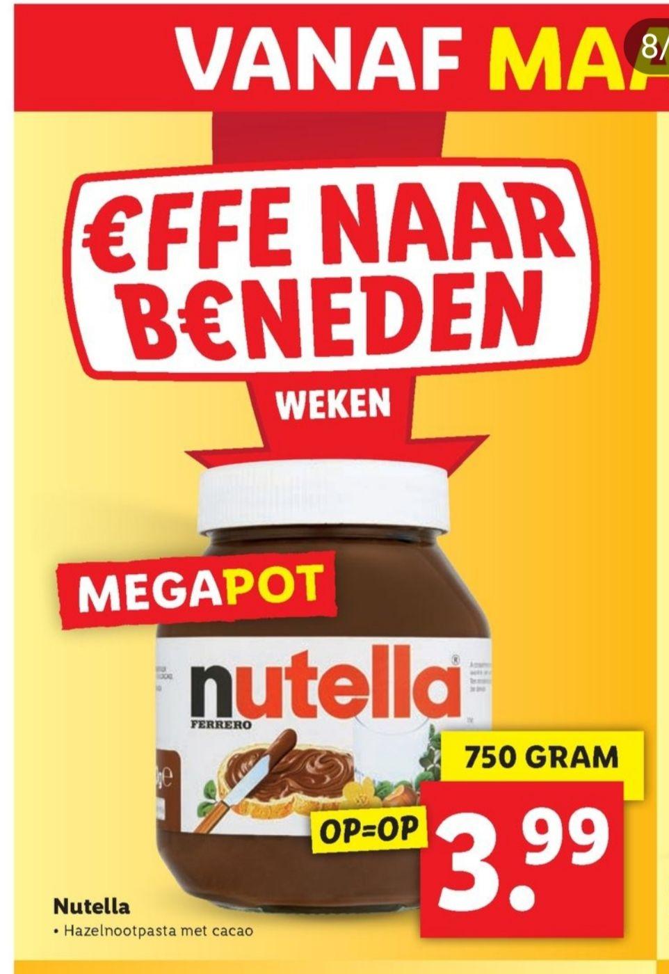750 gram pot Nutella @Lidl