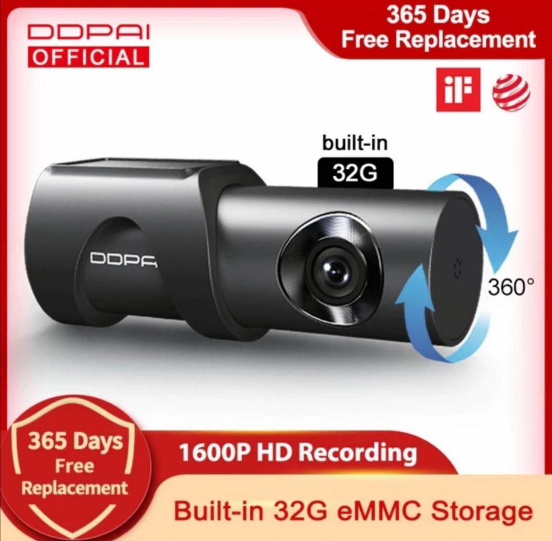 Ddpai Dash Cam Mini 3 1600P HD dashcam parking camera 360° EU shipping