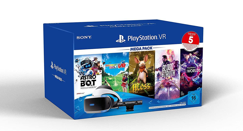 PS4 - Playstation VR Mega Pack 3 incl. PS VR-Headset / 5 games