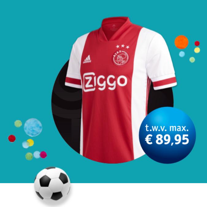 24 uurs actie Vrienden Loterij: Ajax thuisshirt 2020-2021