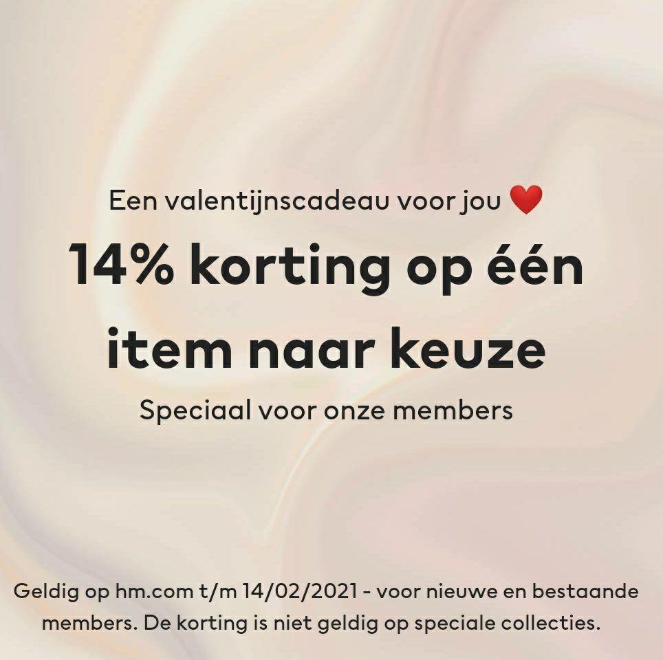 H&M | 14% memberkorting op één artikel naar keuze