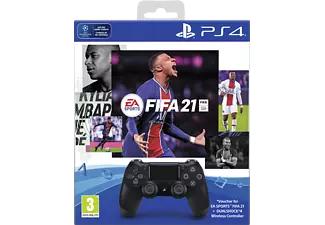 SONY DualShock 4 Zwart + FIFA 21
