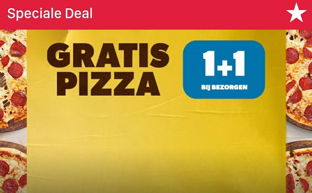 Elke 2de pizza gratis bij bezorgen (excl. Actie)