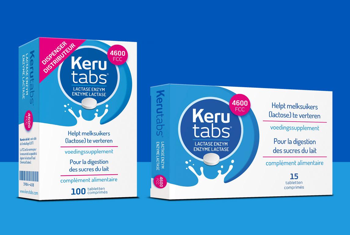 Gratis proefverpakking Kerutabs (5 tabletten) voor mensen met lactose intolerantie