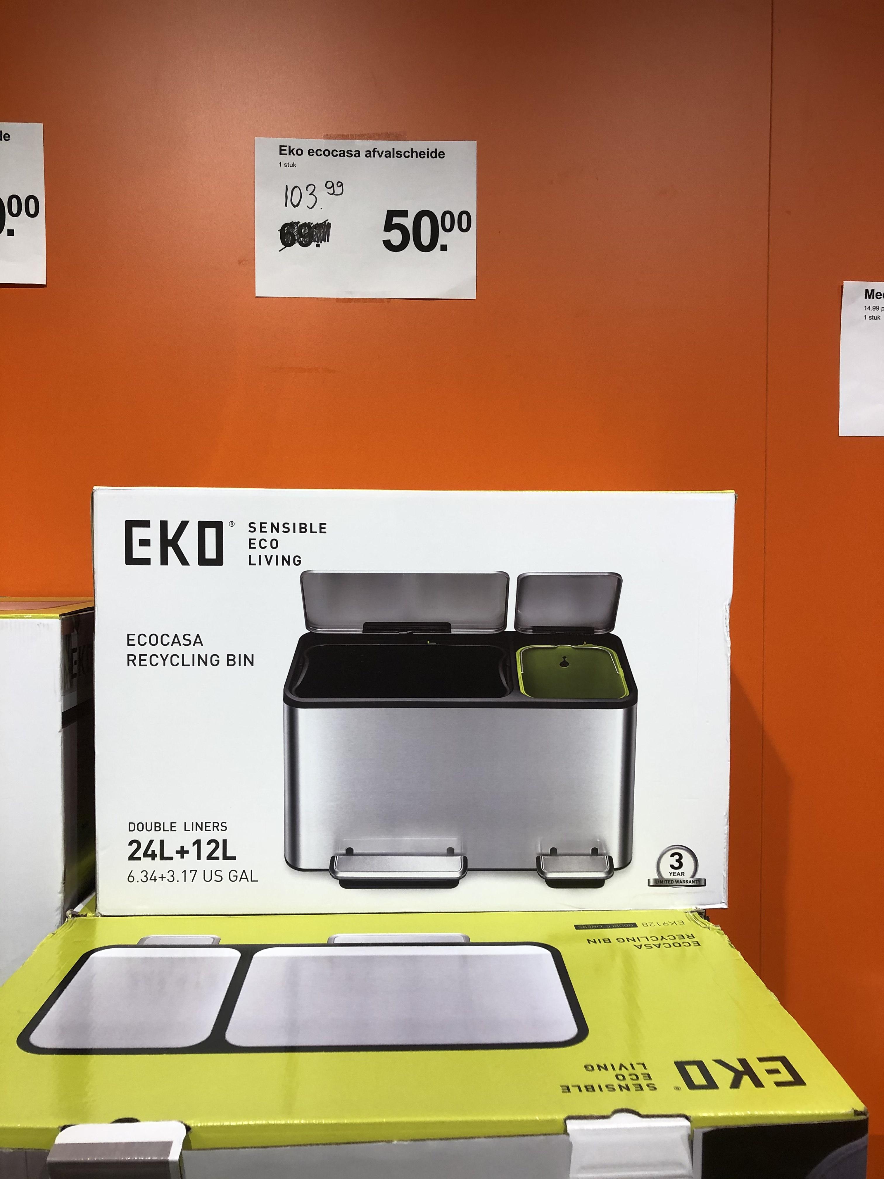 EKO Ecocasa 24 + 12 liter pedaalemmer @AH XL Nijmegen