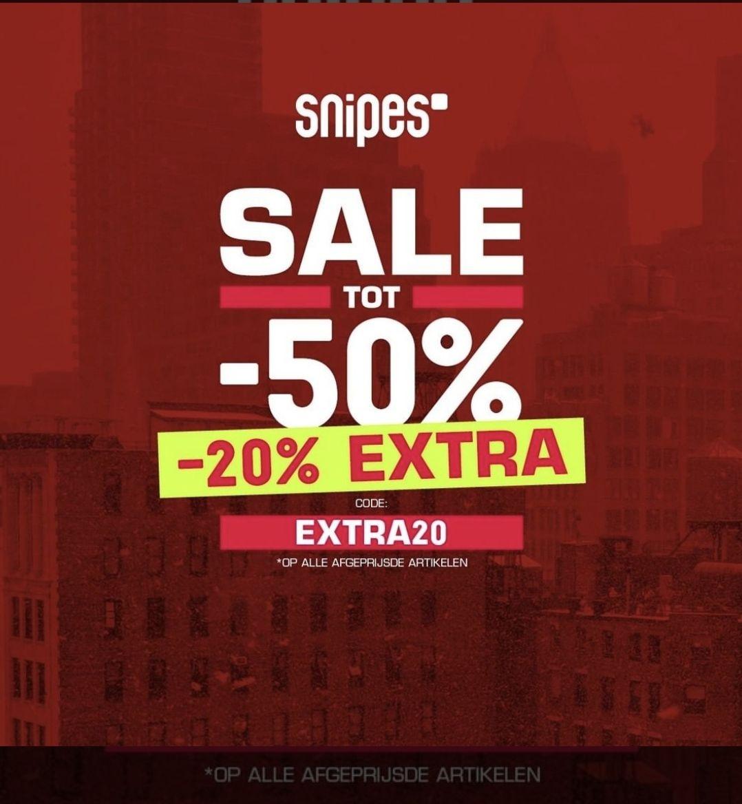 [Snipes] extra 20% korting op de sale