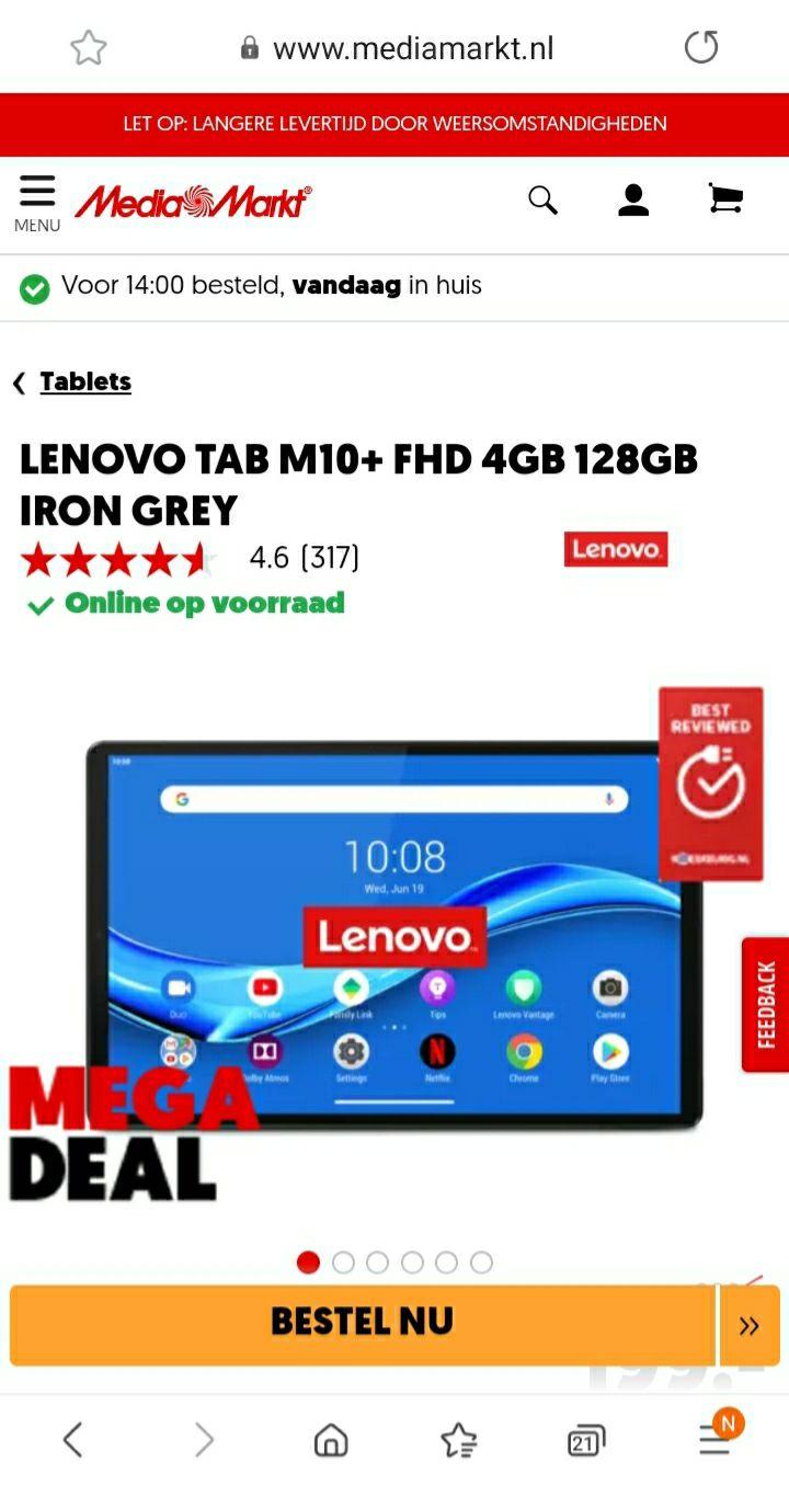 Tablets Lenovo Tab M10+ FHD 4GB 128GB Iron Grey