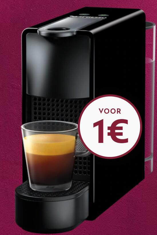 Nespresso machine voor 1 euro bij 12 maanden tegoed opladen bij Nespresso