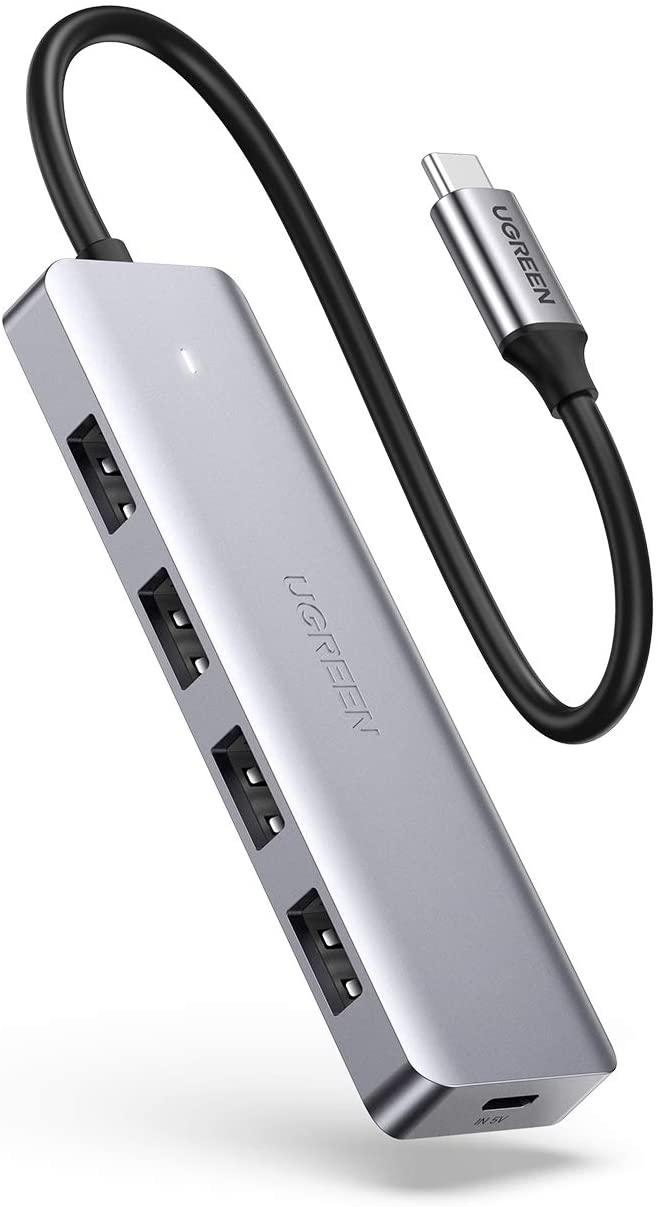 UGREEN USB C hub met 4 USB 3.0 poorten voor €9,99 @ Amazon.nl