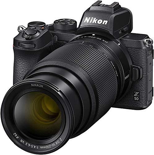 Nikon Z 50 + 16-50 VR + 50-250 VR-kit Zwart + 64 GB SD + statief en opbergtas