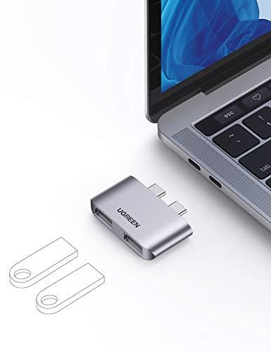 UGREEN MacBook USB C Hub met 2 USB 3.1 poorten voor €10,99 @ Amazon.de