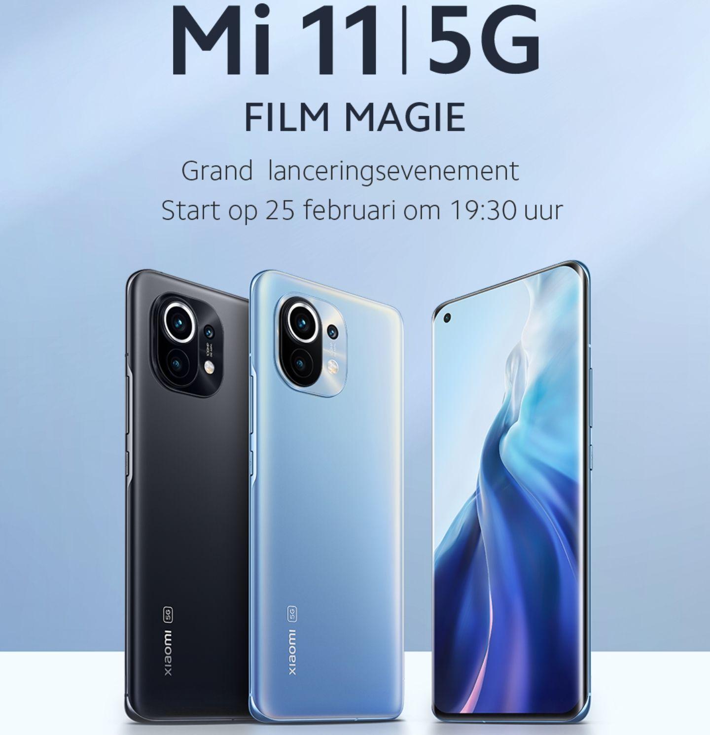 Xiaomi Mi 11 Evenement | 150€ coupon voor volgende Ankoop, Gratis Mi Band 5 + Earbuds Basic 2 & 1 jaar Displaygarantie