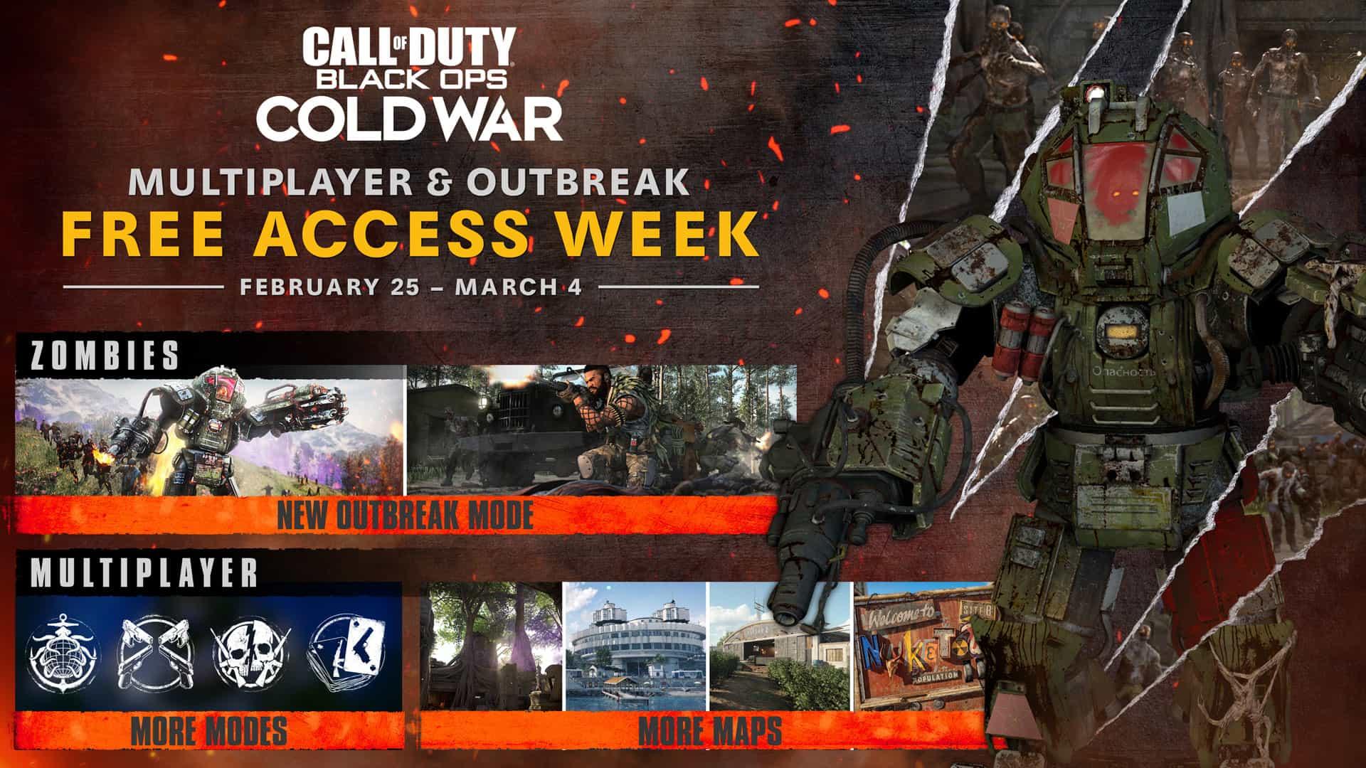Gratis Call of Duty: Black Ops Cold War (multiplayer en zombies) (25 feb - 4 mrt)