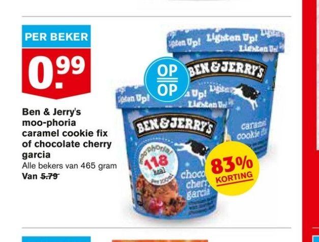 Ben & Jerry's Moo-phoria Caramel Cookie Fix of Chocolate Cherry Garcia 99 cent Hoogvliet