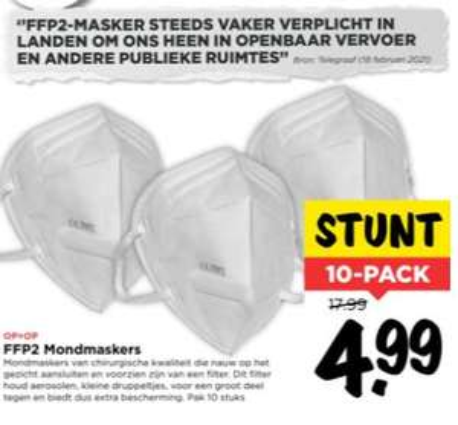 [Vomar] 10-Pack - FFP2 Mondmaskers