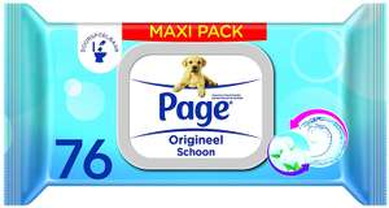 Page origineel schoon maxipack vochtig toiletpapier 76 stuks x 6