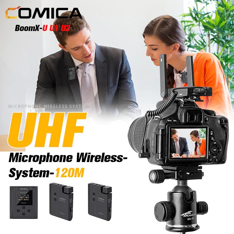 Comica BoomX-U U1 U2 UHF Draadloos microfoon systeem @ Aliexpress