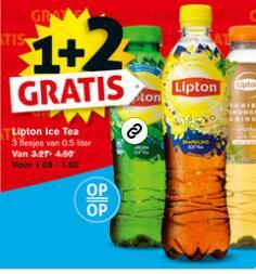 Lipton Ice Tea 1 + 2 gratis @ Hoogvliet