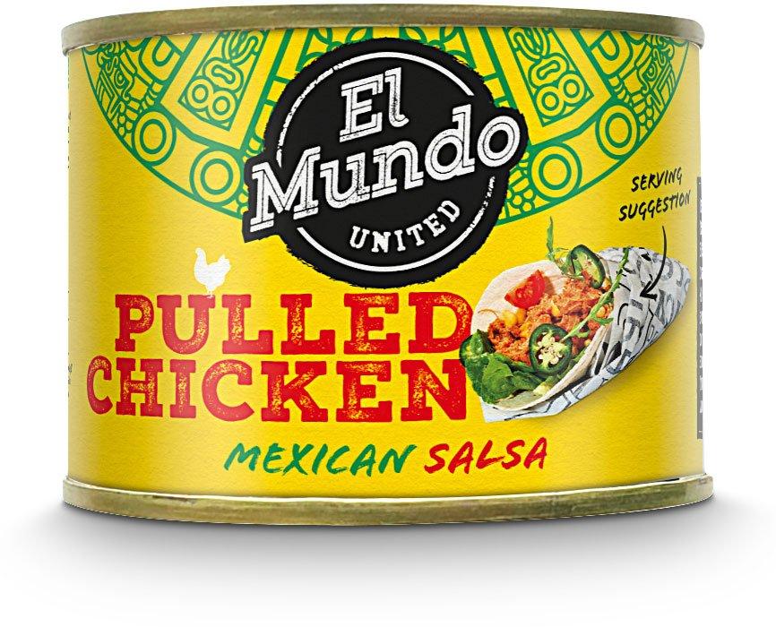 3 blikjes El Mundo Pulled Chicken / Pulled Pork €1 @ Die Grenze