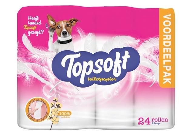 Topsoft - Toilet Papier 2 Laags 24 Rollen €2,99 @ Die Grenze