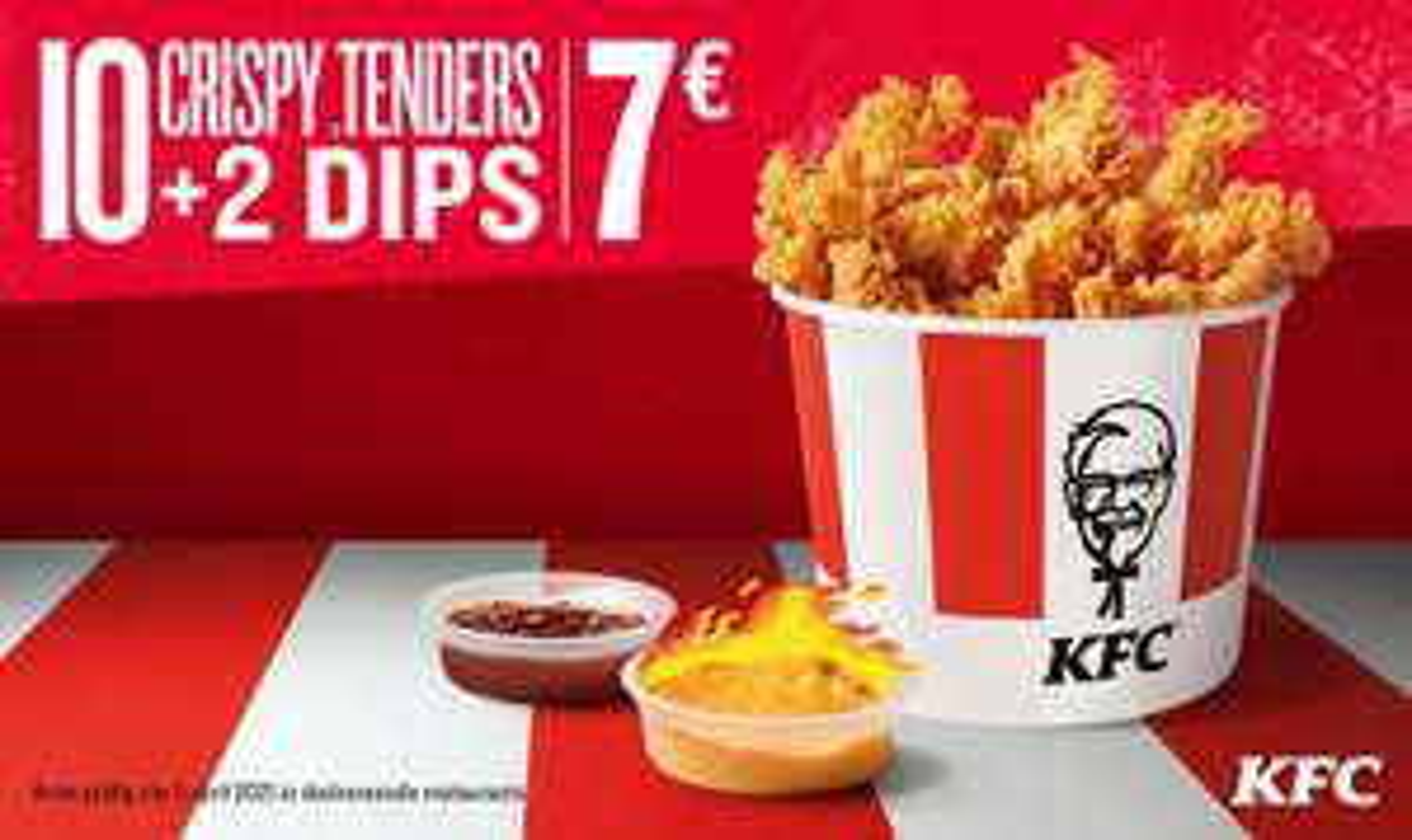 10 Crispy Tenders + 2 dips voor maar €7
