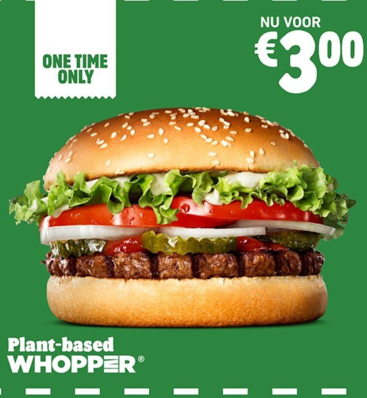 Plant-Based Whopper voor €3 @Burger King