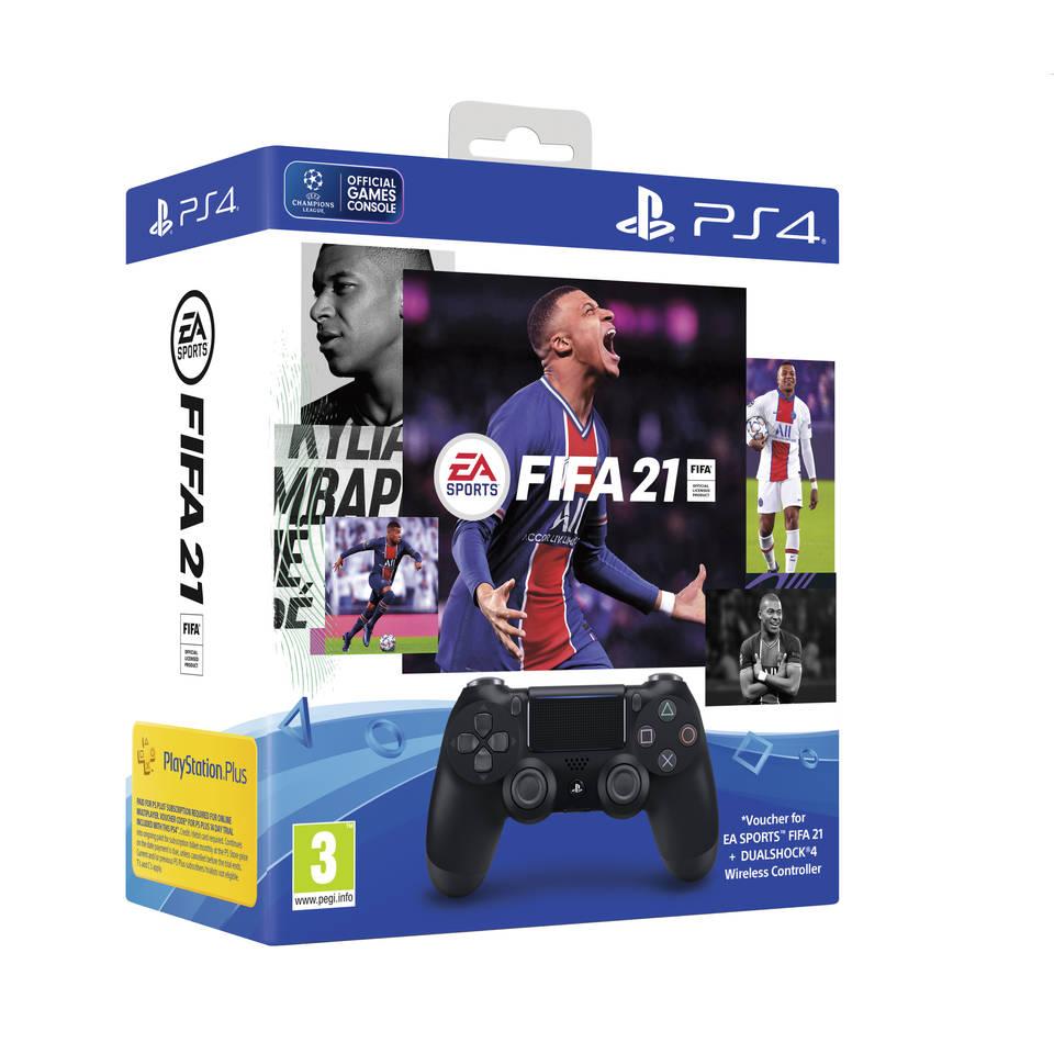 PS4 DualShock 4 V2 controller + FIFA21 + PlayStation Plus Intertoys