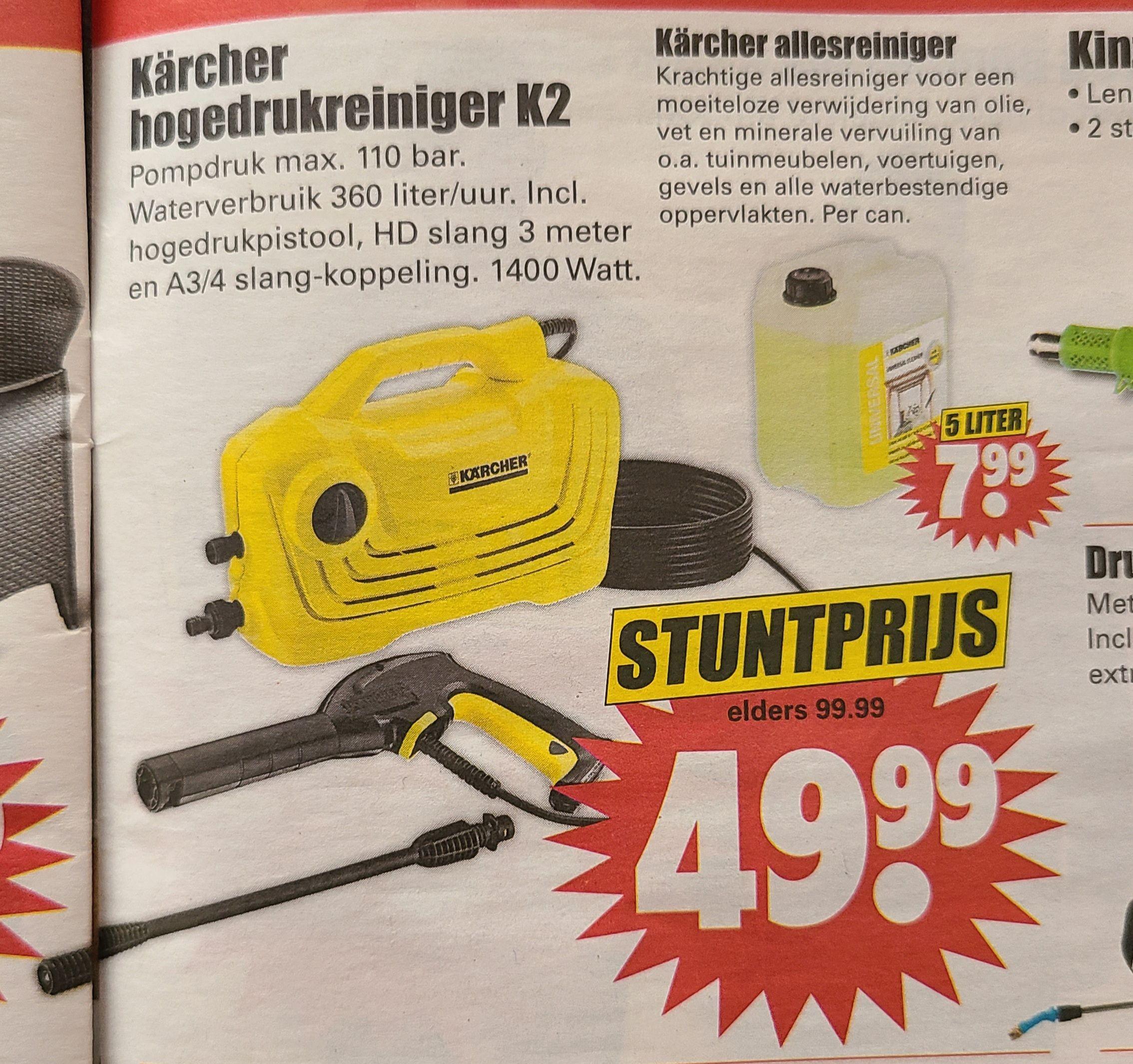 Kärcher K 2 Home Hogedrukreiniger bij Dirk