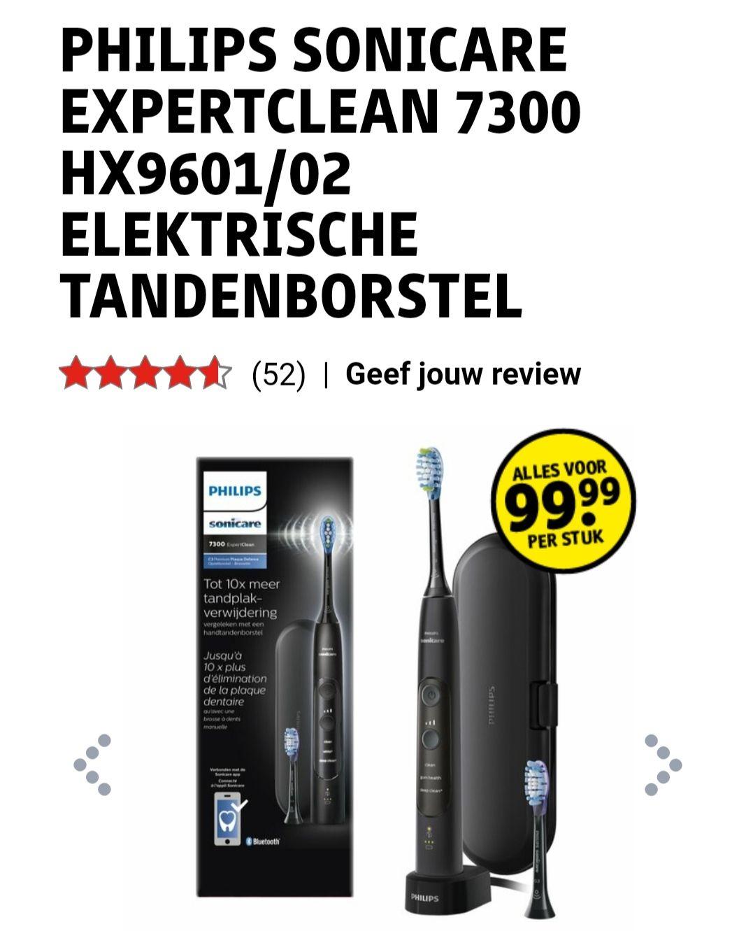 Philips Sonicare ExpertClean 7300 HX9601/02 Elektrische Tandenborstel