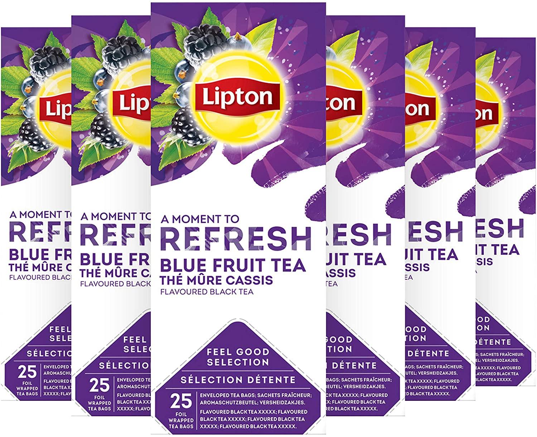 Lipton Zwarte Thee Blauwe Bes & Bramen - 6 x 25 zakjes