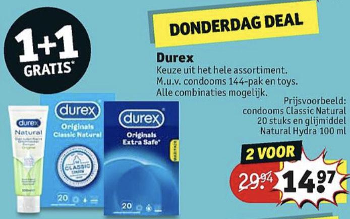 [Dagdeal 18 maart] Durex 1+1 gratis @ Kruidvat